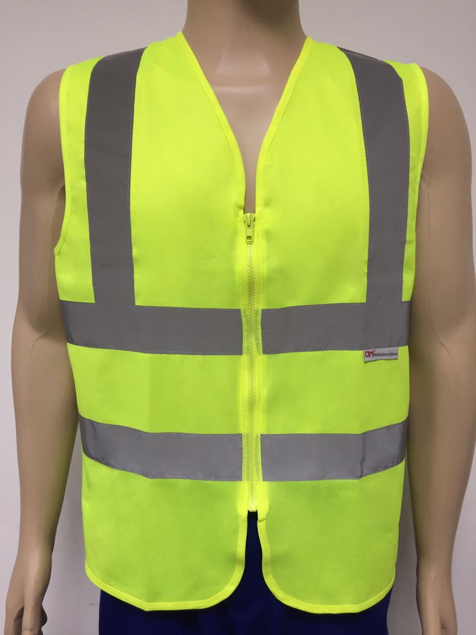 Colete de segurança refletivo amarelo sem bolso