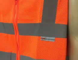 Colete refletivo DM de segurança de tela refletivo laranja sem bolso