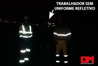 Trabalhador sem uniforme Refletivo