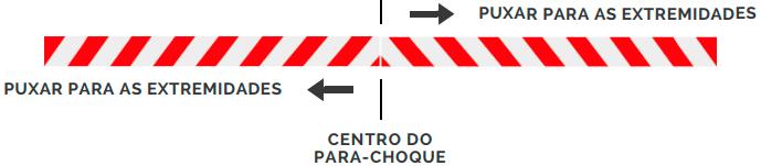 Aplicação da faixa refletiva no para-choque