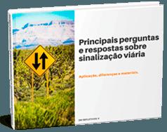 eBook Principais Perguntas e respostas sobre Sinalização Viária