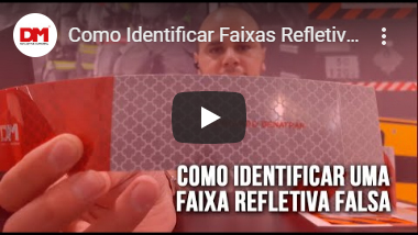 Vídeo sobre como identificar as faixas refletivas falsificadas